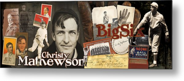 Christy Mathewson Panoramic Metal Print by Retro Images Archive