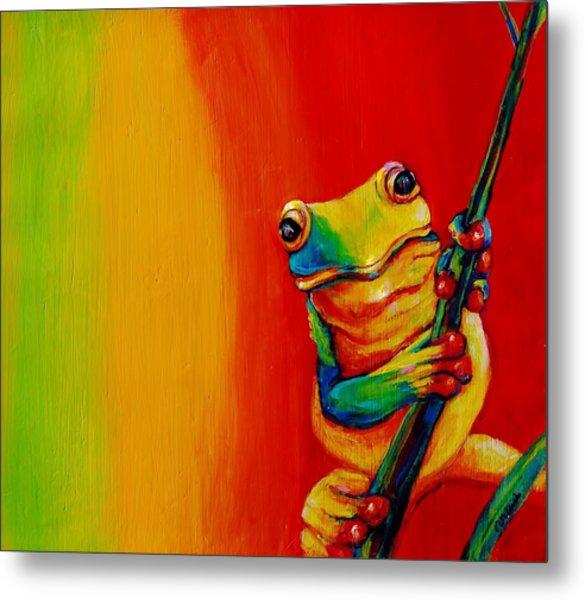 Chroma Frog Metal Print