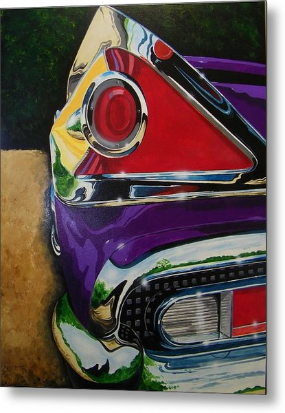 Chrome And Color Metal Print