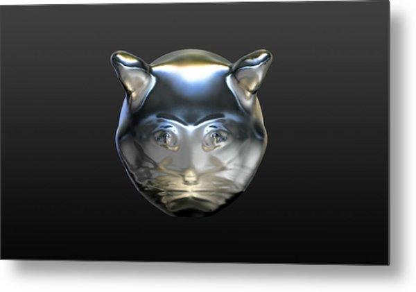 Chrome Cat Metal Print
