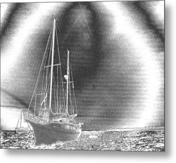Chromed Sailboats In Key Largo Metal Print
