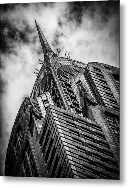 Chrysler Building - Black And White Metal Print
