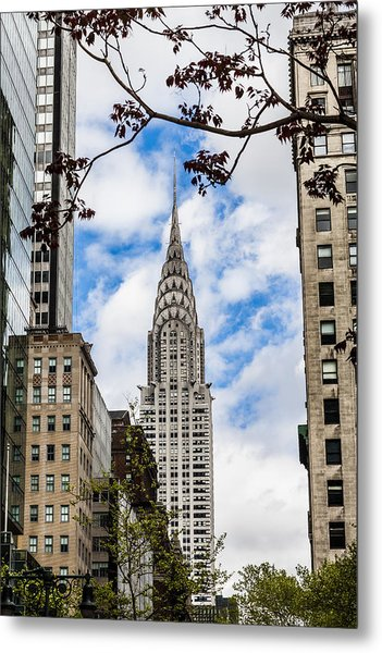 Chrysler Building Metal Print by Chris Halford