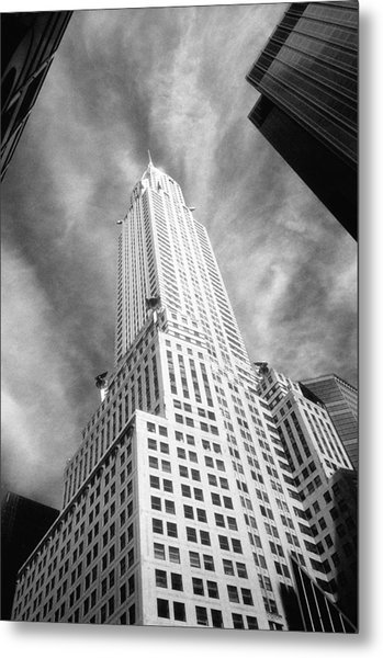 Chrysler Building Infrared Metal Print