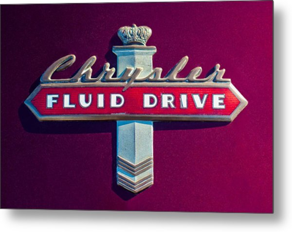 Chrysler Fluid Drive Emblem Metal Print