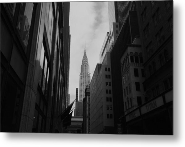 Chrysler Noir Metal Print