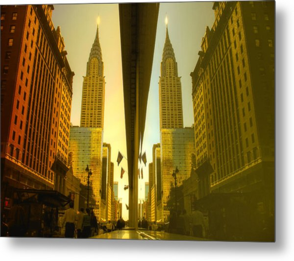 Chrysler Reflection On 42nd Street Metal Print
