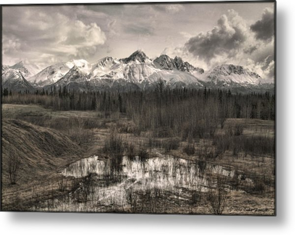 Chugach Mountain Range Metal Print