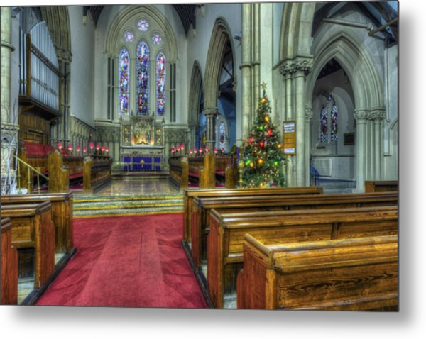 Church At Christmas V3 Metal Print