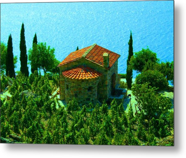 Enchanted Church Between Sea And Nature Metal Print