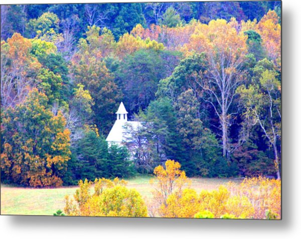 Church In The Glade Metal Print
