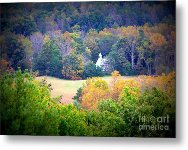 Church In The Woods Metal Print