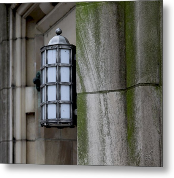 Church Lamp Metal Print