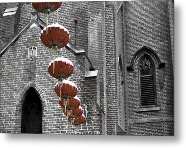 Church Lanterns Metal Print