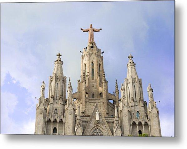 Church Of The Sacred Heart Tibidabo Barcelona  Metal Print