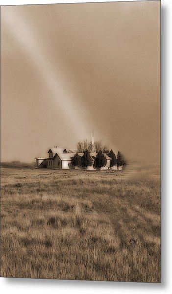 Church On The Prairie Metal Print