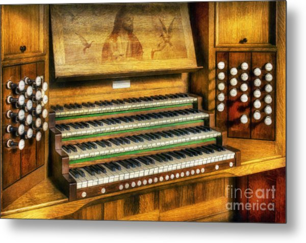 Church Organ Art Metal Print