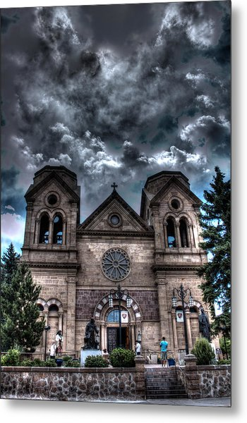 Church Under An Angry Sky Metal Print