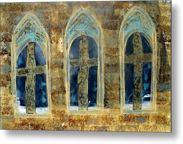 Church Windows Metal Print