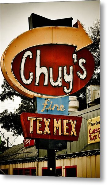 Chuy's Sign 2 Metal Print