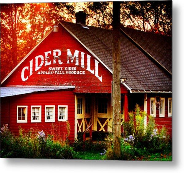 Cider Mill Metal Print