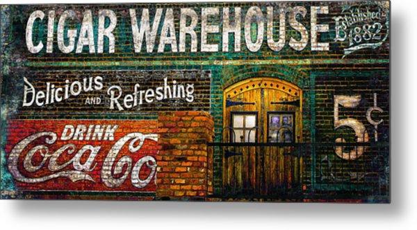 Cigar Warehouse Metal Print