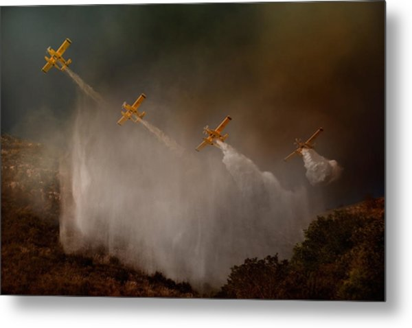 Cilento National Park - The Scene That Unfortunately Is Repeated Almost Every Year In Summer... Metal Print