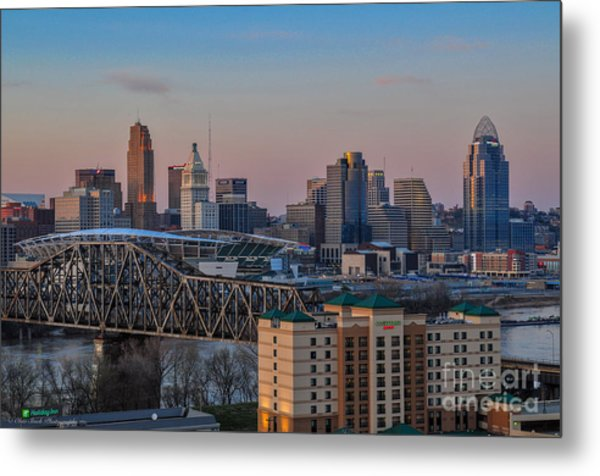 D9u-876 Cincinnati Ohio Skyline Photo Metal Print