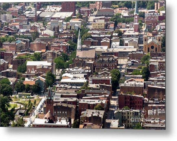 Cincinnati Over The Rhine Neighborhood Aerial Photo Metal Print by Paul Velgos