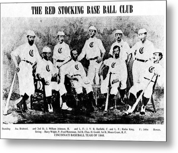 Cincinnati Red Stocking Baseball Team Metal Print