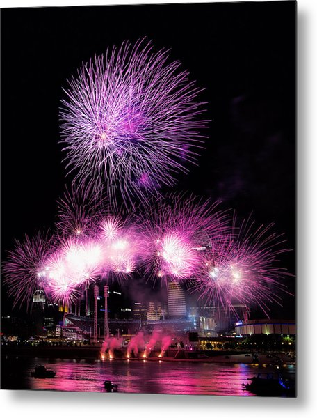 Cincinnati Reds Fireworks Friday Metal Print