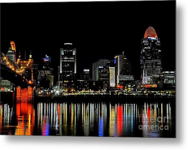 Cincinnati Skyline Dreams 3 Metal Print