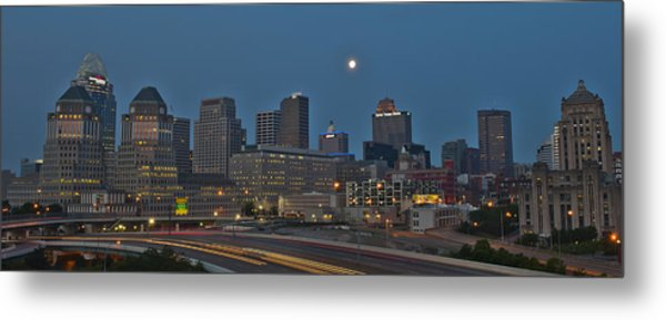Cincinnati Skyline From Mt. Adams Metal Print