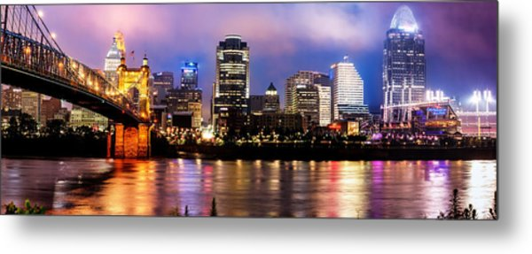 Cincinnati Skyline Panorama Metal Print