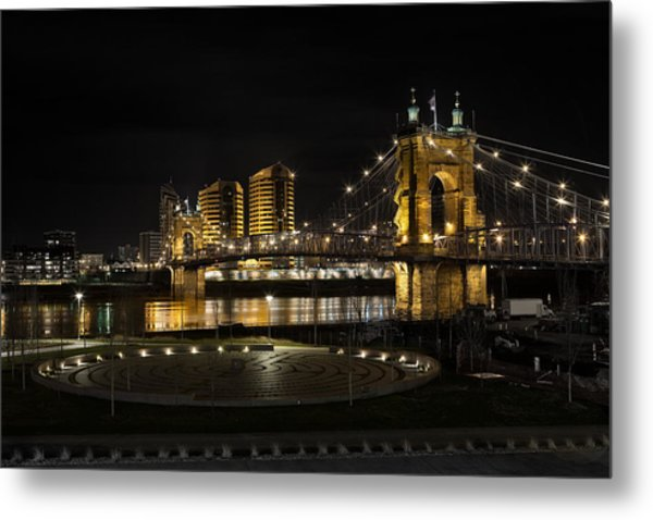 Cincinnati To Covington Metal Print