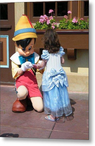 Cinderella Gets Autograph Metal Print
