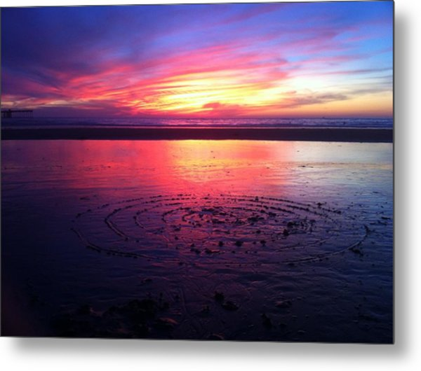 Circle In The Sand Metal Print