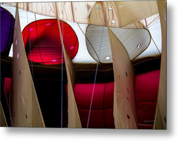 Circles Within Circles - Inside A Hot Air Balloon Metal Print