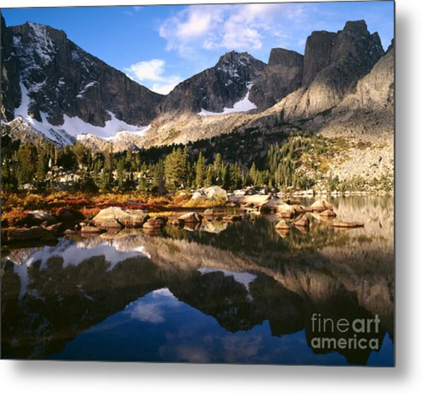 Cirque Of The Towers In Lonesome Lake 2 Metal Print