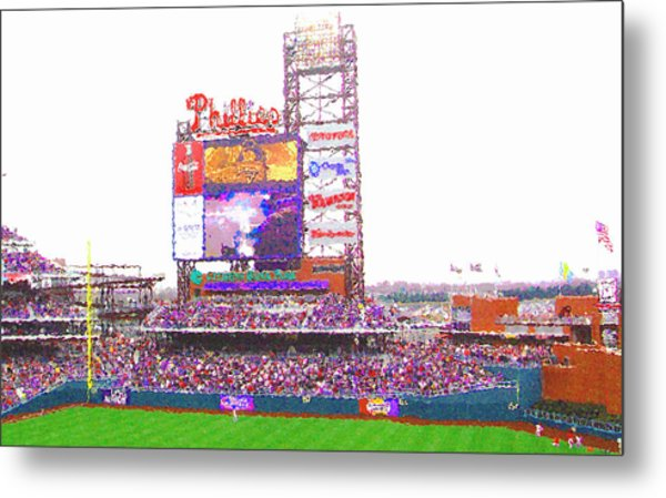 Citizen's Bank Park Metal Print by Barbara Hammond