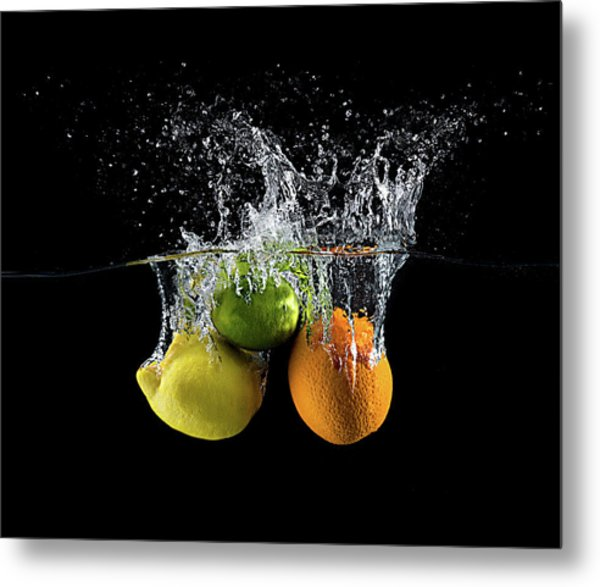 Citrus Splash Metal Print by Mogyorosi Stefan