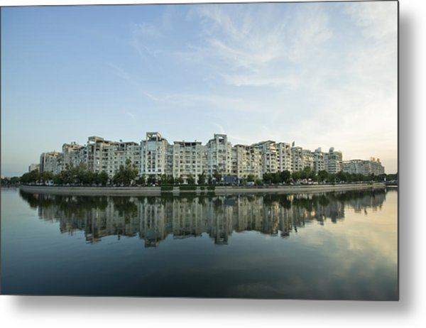City And Water Metal Print by Ioan Panaite