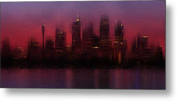City-art Sydney Skyline Metal Print