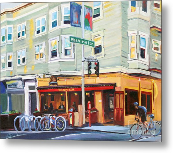 City Bike At Polk And Washington Metal Print by Colleen Proppe