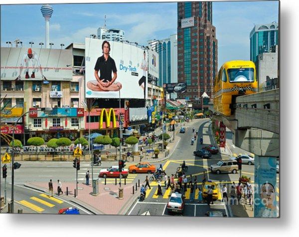 City Centre Scene - Kuala Lumpur - Malaysia Metal Print