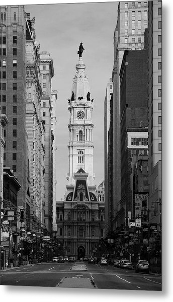 City Hall B/w Metal Print