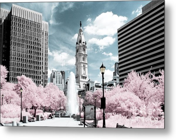 City Hall In Spring Metal Print