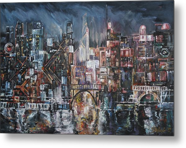 City Lights II Metal Print