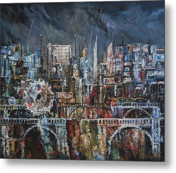 City Lights IIi Metal Print