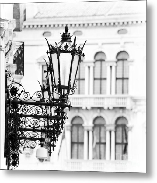 City Lights In Venice Metal Print